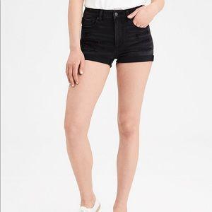 Black American Eagle Denim Shorts